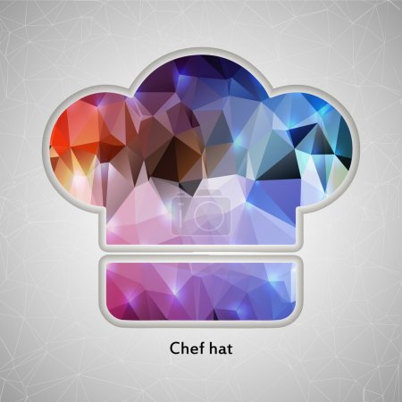 Abstract Creative concept vector icon of chef hat for Web and Mobile Applications isolated on background. Vector illustration template design, Business infographic and social media, origami icons.