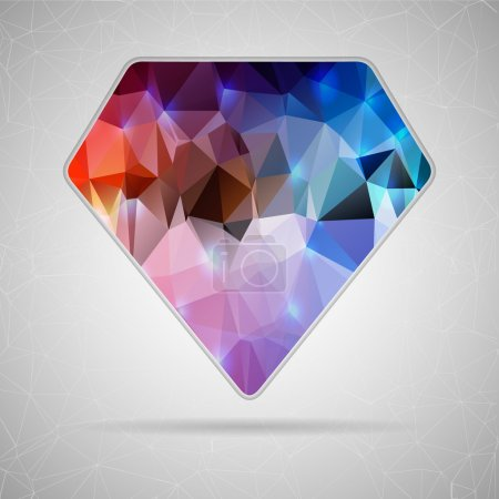 Abstract Creative concept vector icon of diamond for Web and Mobile Applications isolated on background. Vector illustration template design, Business infographic and social media, origami icons.