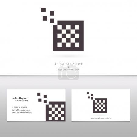 Abstract Creative concept vector logo of chess for web and mobile applications isolated on background, art illustration template design, business infographic and social media, icon, symbol, element.
