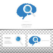 Abstract Creative concept vector image logo of brain for web and mobile applications isolated on background art illustration template design business infographic and social media icon symbol