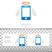 Abstract Creative concept vector icon of smart phone for Web and Mobile Applications isolated on background. Art illustration template design, Business infographic and social media, origami icons.