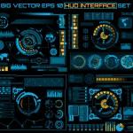 Abstract future, concept vector futuristic blue vi...