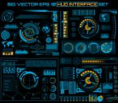 Abstract future concept vector futuristic blue virtual graphic touch user interface HUD For web site mobile applications isolated on black background techno online design business gui ui