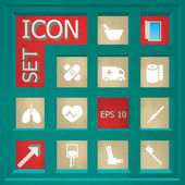 Abstract creative concept vector set of healthcare and medical icons for web and mobile app isolated on background art illustration template design business infographic and social media symbol