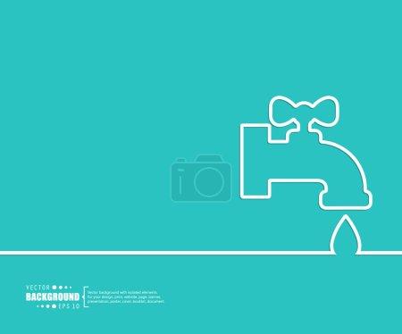 Illustration pour Fond vectoriel abstrait. Pour applications web et mobiles, conception de gabarits d'illustration, infographie d'entreprise, brochure, bannière créative, présentation, affiche, couverture, livret, document - image libre de droit