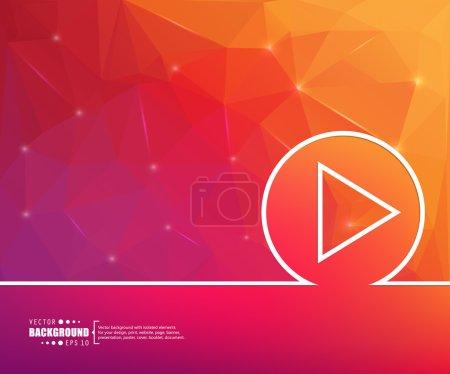 Illustration pour Abstrait de vecteur de concept créatif pour le web et les applications mobiles, illustration modèle de conception, entreprise infographique, page, brochure, bannière, présentation, affiche, couverture, brochure, document - image libre de droit