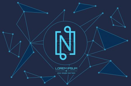 Abstract concept creative vector letter N. Colorfu...