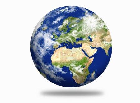 Photo pour Globe, planète Terre avec continents - image libre de droit