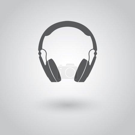 Modern headphones icon.