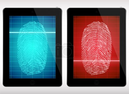 Fingerprint Scanning Tablet - Illustration.
