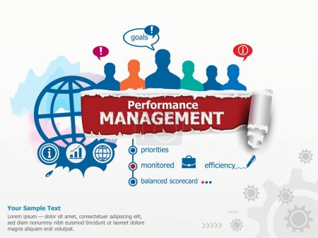 Performance management concept and group of people.