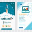 Internship and concept background with rocket. Pro...