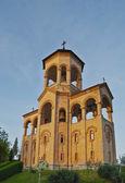 Bell Turm der Holy Trinity Cathedral von Tiflis