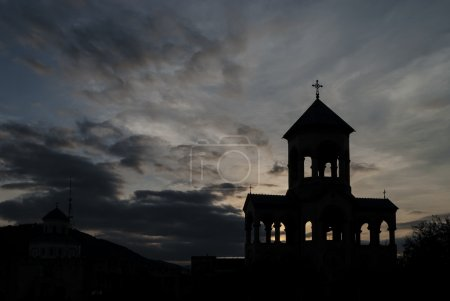 Bell tower of Holy Trinity Cathedral of Tbilisi