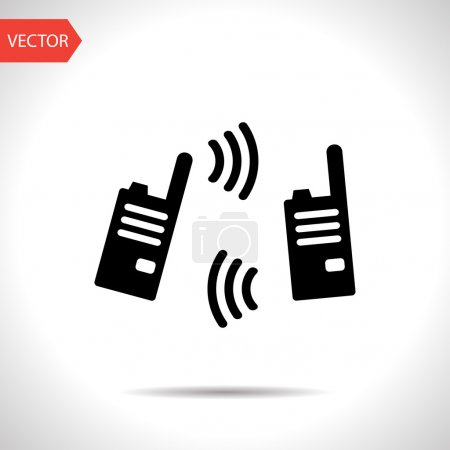 vector illustration of modern radio