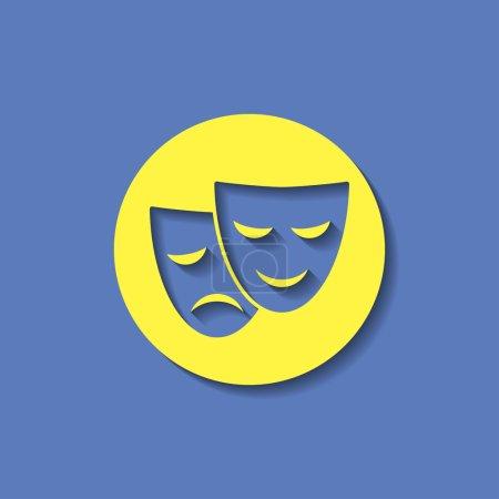 Illustration pour Icône masques de théâtre - image libre de droit