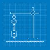 Loaded dynamometer scale physics blueprint