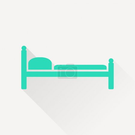 Illustration for Bed vector icon - Royalty Free Image