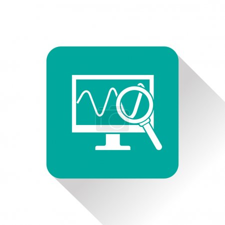Monitoring green vector icon...