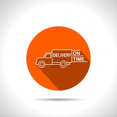 delivery truck vector icon
