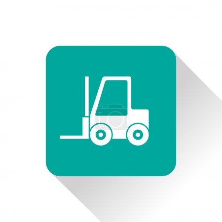 forklift flat vector icon