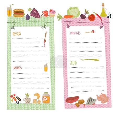 Healthy menu, food collection