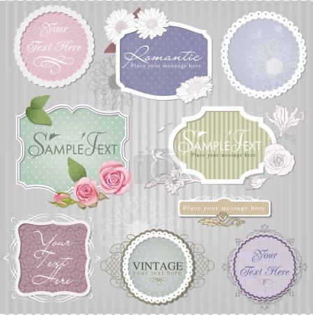 Illustration for Vector set: vintage decorative labels - Royalty Free Image