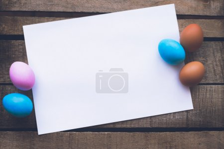 Easter eggs photo composition