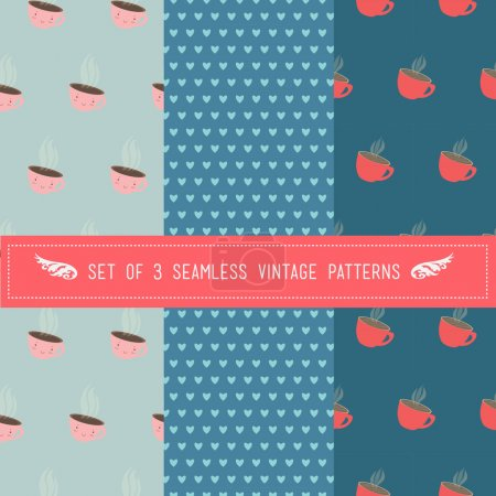 Set of 3 seamless patterns