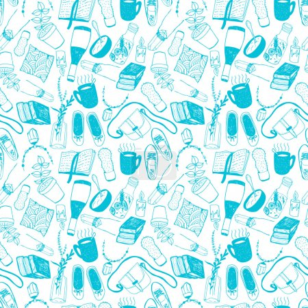 cartoon pattern with fashion, style icons