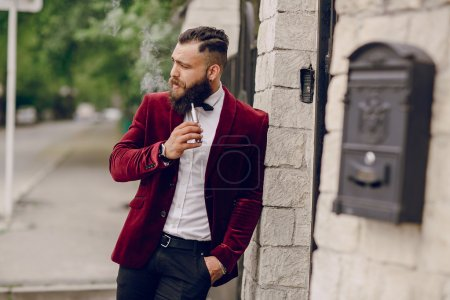 Photo for Refined bearded man who looks like a millionaire - Royalty Free Image