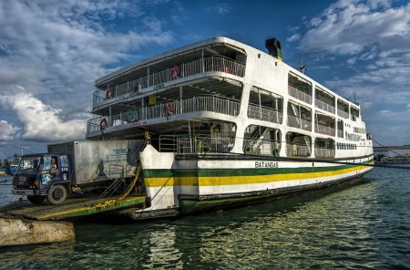 Ro-Ro Ferry, Iloilo City Wharf, Philippines, a widley used form of transportation on the islands.