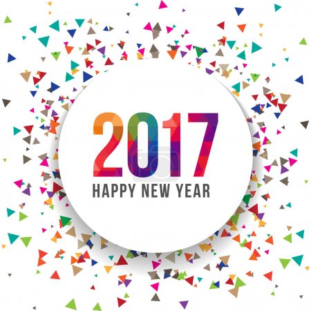 Happy New year 2017 Vector Illustration template Background design. Scatter confetti effect