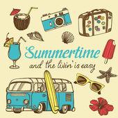Retro summer vacation set