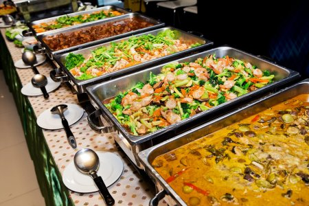 Food buffet in the Thailand...