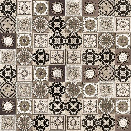 Photo pour Motifs de carreaux de céramique du Portugal. - image libre de droit