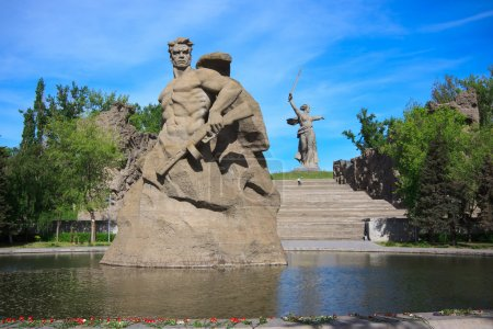 Denkmal für den Tod in Mamajew Kurgan, Wolgograd, Russland