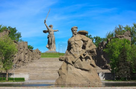 Monument Stay to the Death in Mamaev Kurgan, Volgograd, Russia
