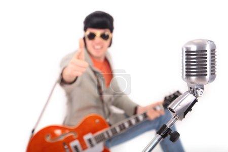 Elvis Presley and microphone