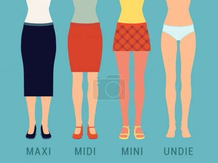 Various skirts and underwear