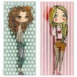 Two fashion cartoon girls...