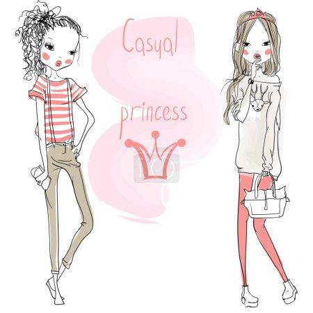 cute cartoon girls