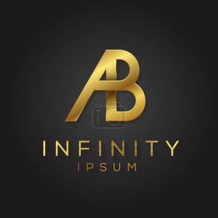 Black and gold alphabet logo