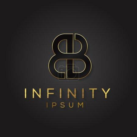 Alphabet double B letter logo