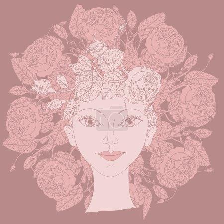 Woman beauty illustration vector