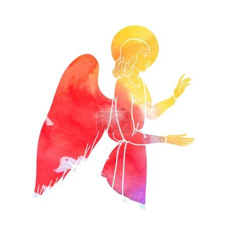 angel at watercolor