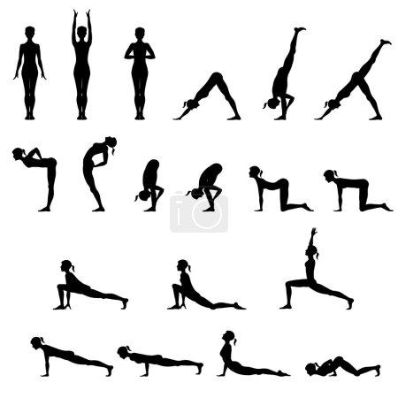 Set Of 19 Yoga Positions