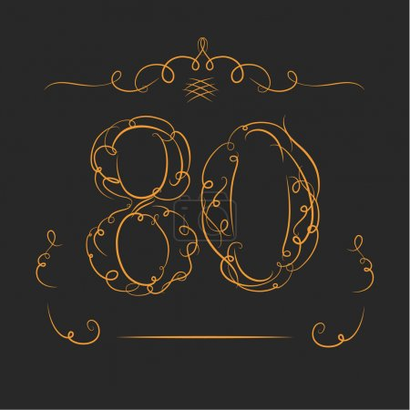 Anniversary 80th signs