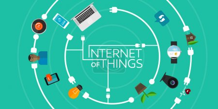 Photo for Internet of Things flat iconic illustration thing object - Royalty Free Image