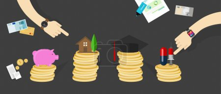 Financial money budget allocation personal family